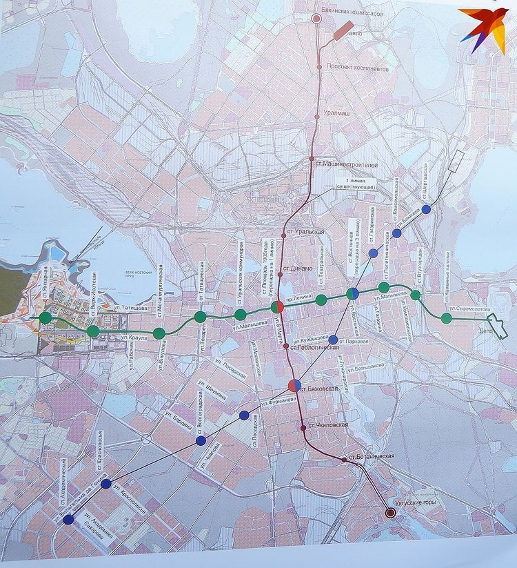 Обновленная схема метро
