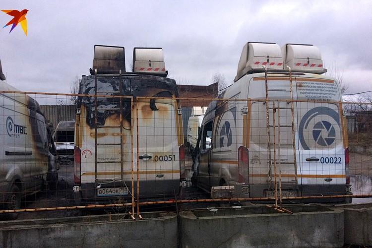 В Подмосковье сгорели 13 мобильных комплексов видеофиксации