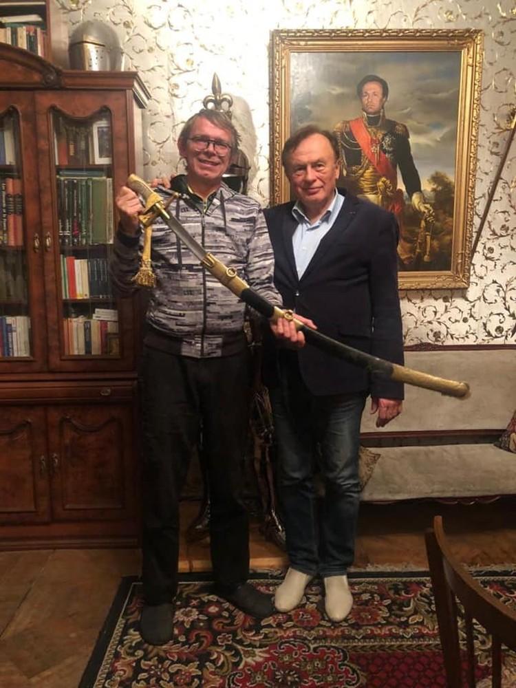 Олег Соколов с актером Бугаевым