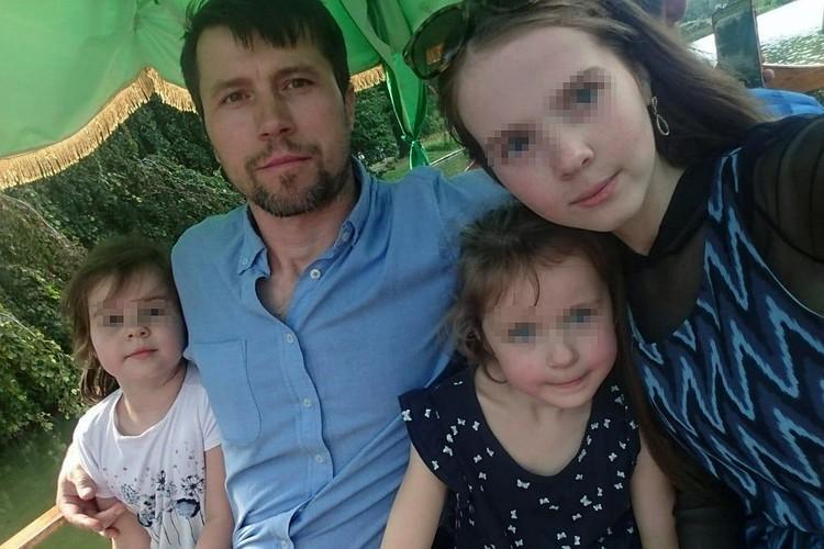 Денис Лисов с детьми