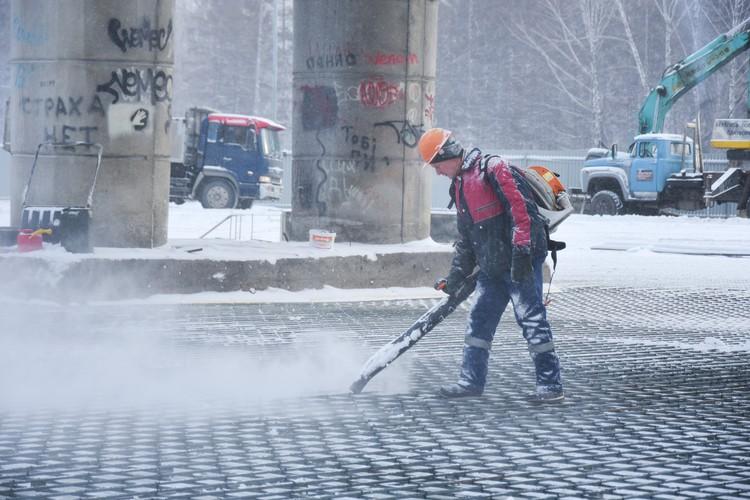 Подготовка к обустройству бетонной площадки.