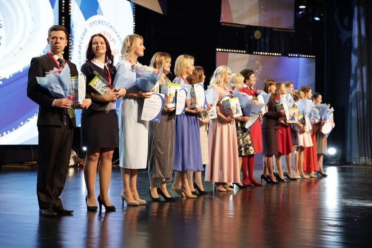В финале конкурса Евгений Пепеляев был единственным представителем сильного пола. Фото: Министерство просвещения Российской Федерации