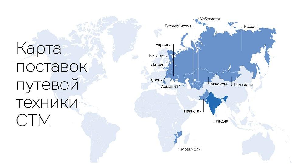Карта поставок путевой техники СТМ