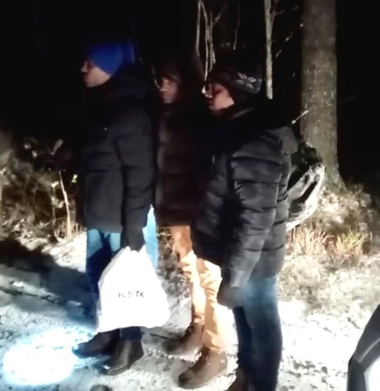 Сквозь лес продирались ночью Фото: пресс-служба Пограничного управления ФСБ по Петербургу и Ленобласти