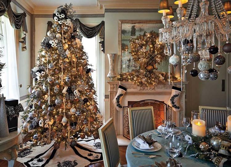 Чтобы украсить дом в стиле Шанель, выбирайте украшения черного, серебристого и бежевого цвета. Это смотрится дорого и необычно. Фото: frontgate.com