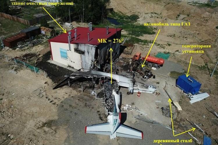 Место трагедии в аэропорту Нижнеангарска. Фото: МАК.
