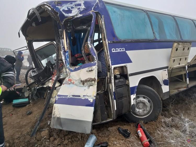 В автобусе находились 56 граждан Республики Узбекистан, которые возвращались на родину.