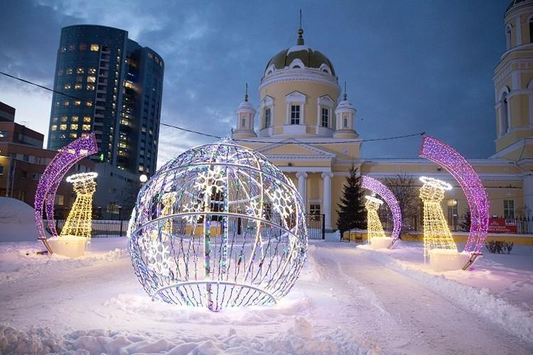 Ледовые городки возле храмов  это чудесное место для прогулок с детьми. Фото: Фонд святой Екатерины