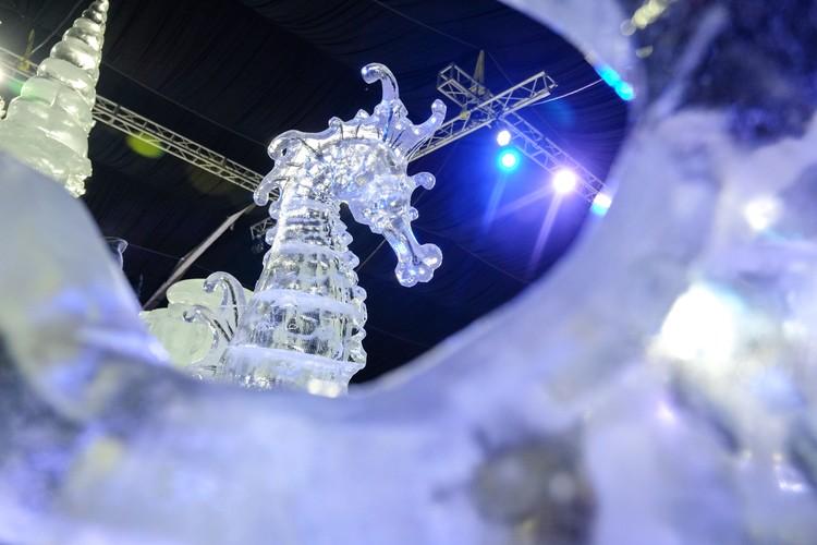 На фестивале более 20 скульптур, а если посчитать каждый коралл или маленькую рыбку, то только на замке таких скульптур более 200.