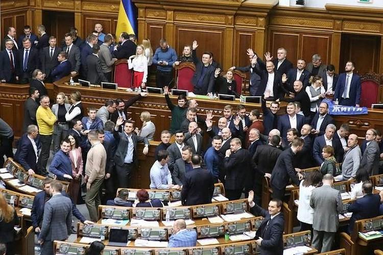 Верховная рада после жарких споров все же приняла приняла скандальную земельную реформу. Фото: Петр Сивков/ТАСС