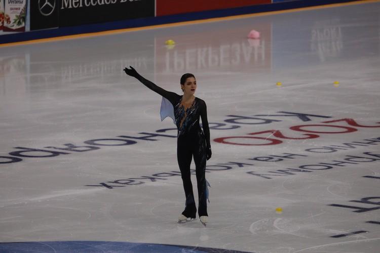 По итогам короткой программы Евгения Медведева была пятой