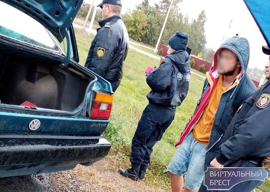 Подозреваемый после задержания. Фото: virtualbrest.by