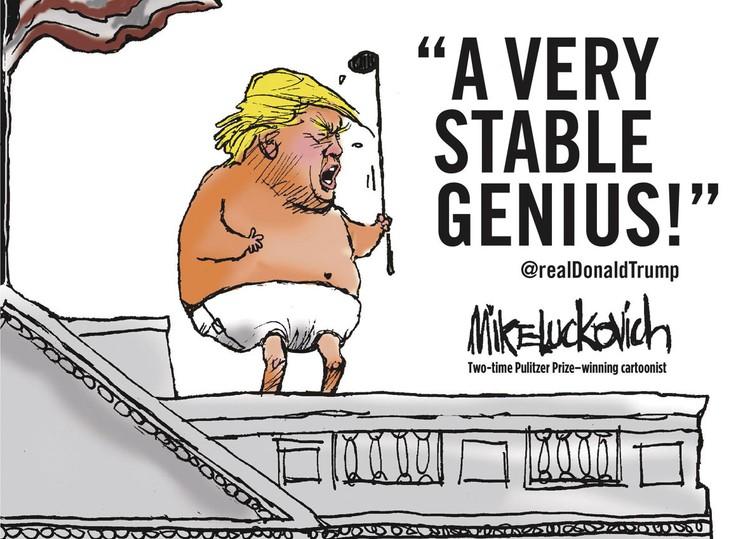 «Очень стабильный гений» - так издевательски называется новая книга об американском лидере. С какими деяниями он войдет в историю, сказать пока сложно, но звание самого эксцентричного президента США уже заслужил.