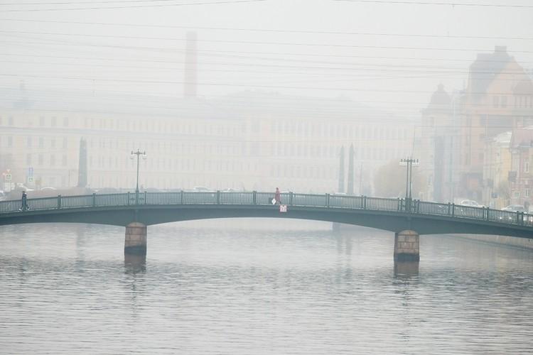 Пасмурная погода, туман... многие не могут жить в Петербурге из-за климата.