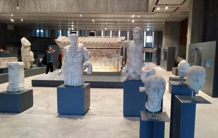 Экспозиция в Музее Трои