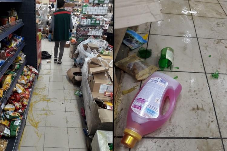 Сотрудники Spar сдались и даже не пытались навести хоть какой-то порядок в магазине. Фото: vk.com/detskoselsky_online
