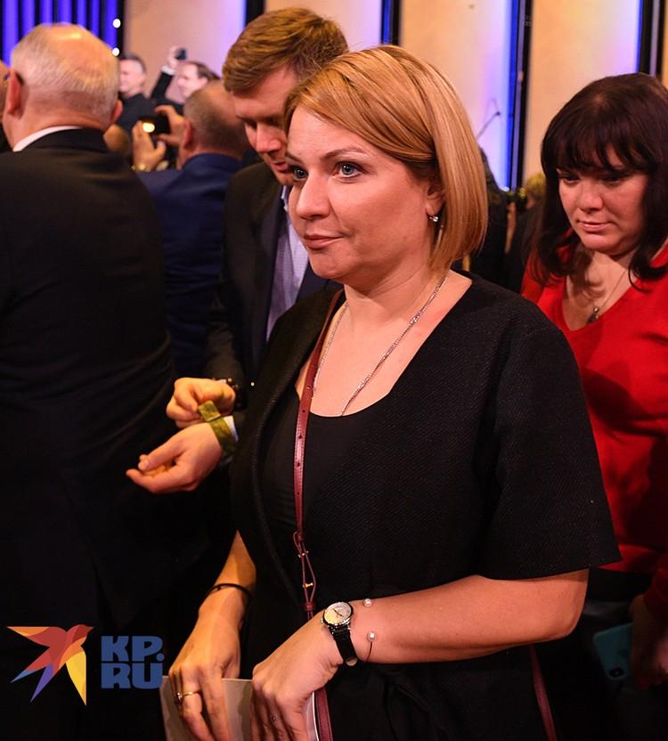 Это первое публичное появление Любимовой в новой должности
