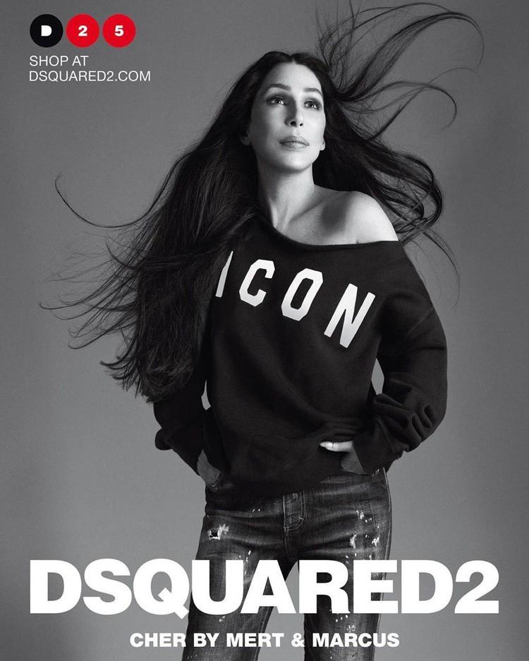 Шер стала лицом новой кампании модного бренда. Фото: instagram/Dsquared2
