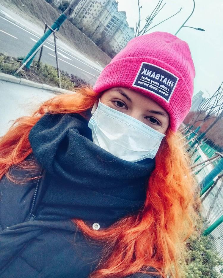 Виктория в маске. Фото: инстаграм Виктории Маковецкой