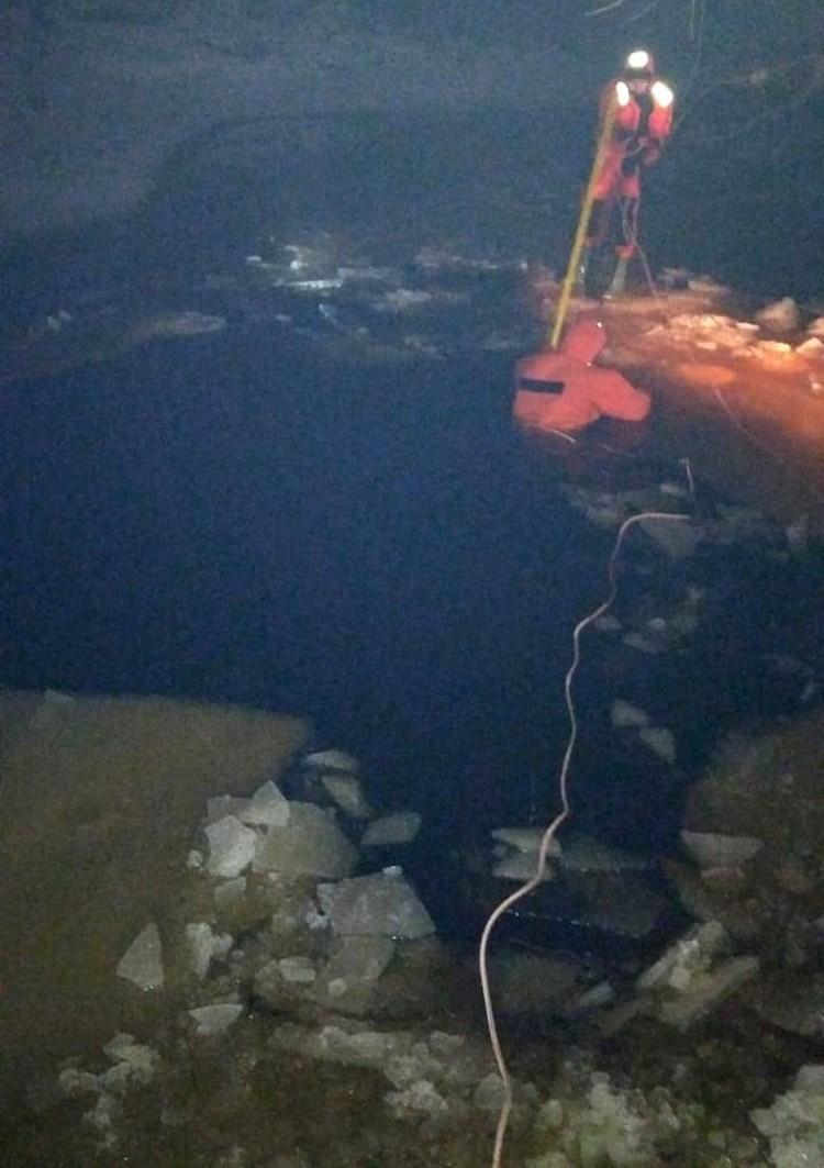 Мужчину спасти не удалось Фото: поисково-спасательный отряд Тосно