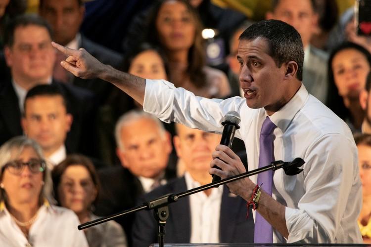 Выступление лидера оппозиции Венесуэлы в Майями.