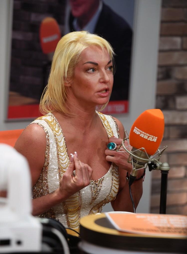 Анастасия Волочкова в редакции Радио «Комсомольская правда»