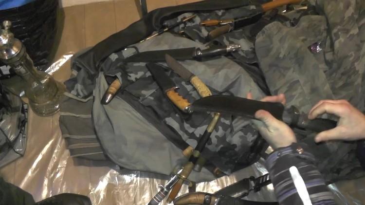 У членов группы нашли оружие Фото: ГУ МВД по СПб и ЛО