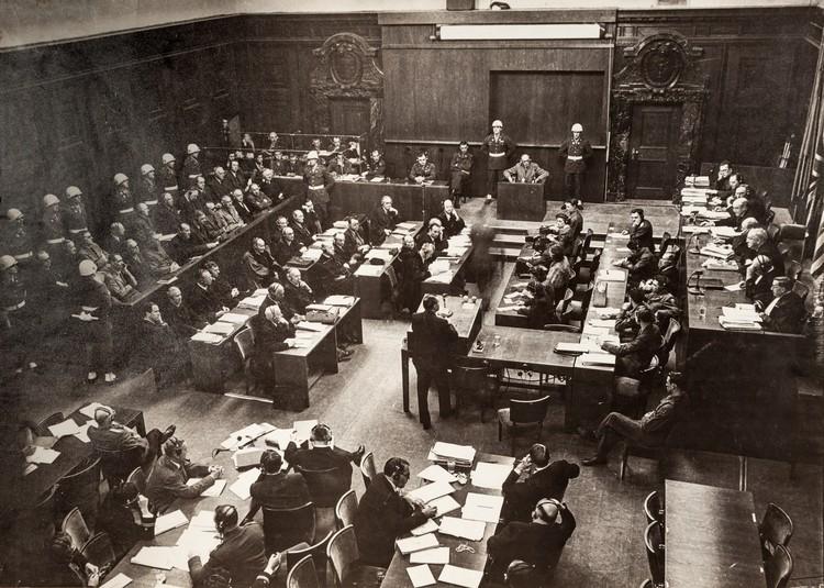 Зал заседаний Нюрнбергского трибунала. 1945 г. Фото Е.Халдей ВКИКМЗ