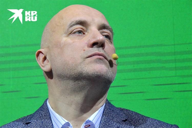 """Писатель Захар Прилепин на учредительном съезде партии """"За правду""""."""