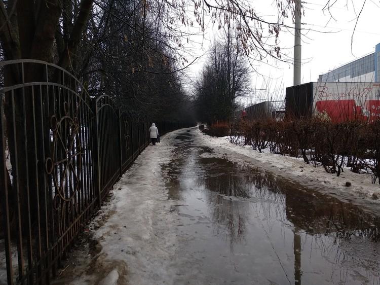 Дороги превратились в реки