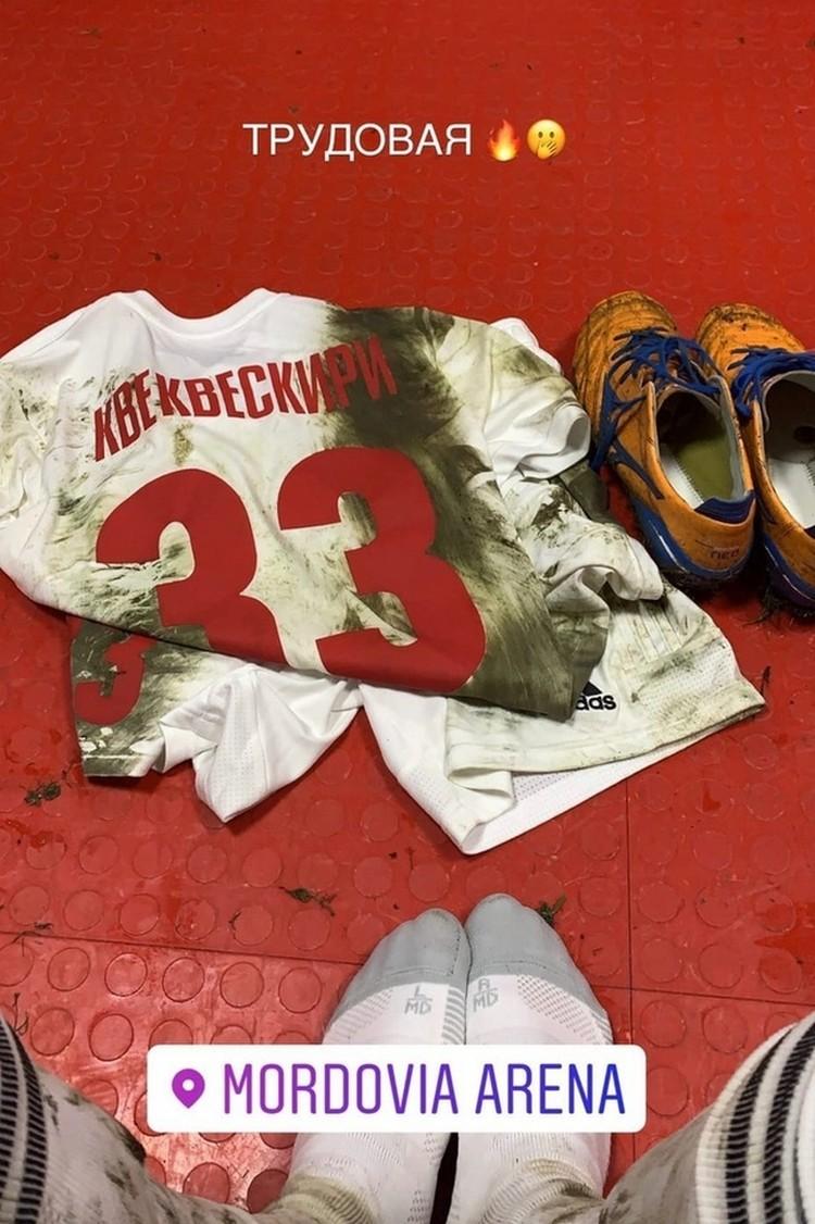 Футболка после игры с «Мордовией»