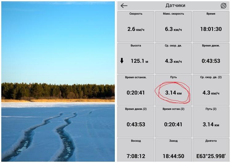 Путь вокруг озера составляет 3,14 км.