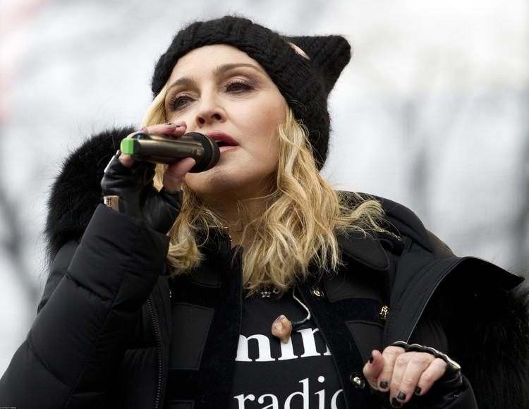 Выступление Мадонны на шествии движения #MeToo, 2017 год.
