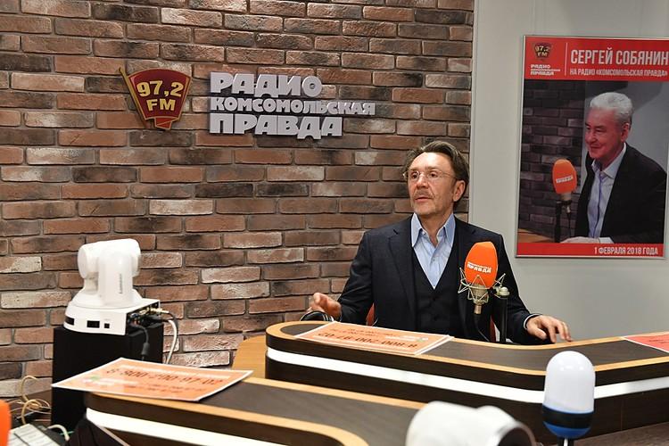 Сергей Шнуров в эфире