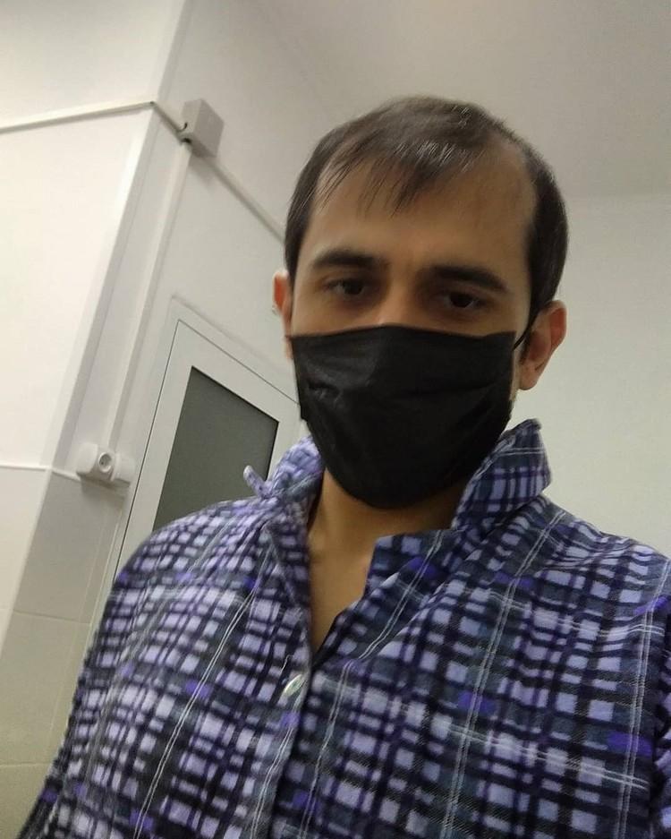 Теперь Тимур Гусаев живёт в изолированном боксе и ждёт окончательного вердикта из новосибирской лаборатории