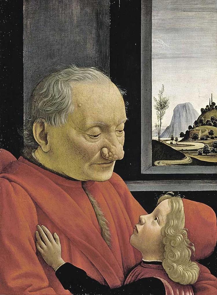 Rартина Доменико Гирландайо «Портрет старика с внуком» (1490).