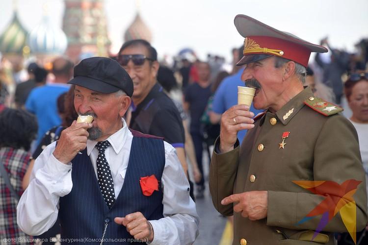 Два прятеля в жаркий московский день