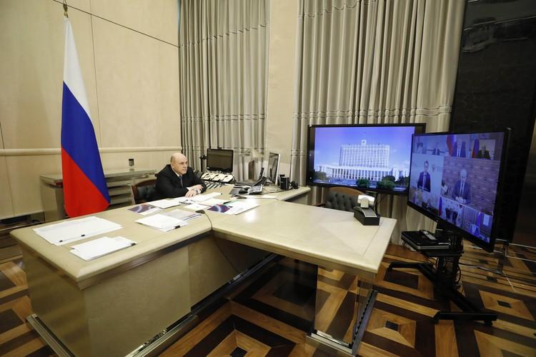Мишустин лично возглавил координационный совет по борьбе с коронавирусом. Фото: Дмитрий Астахов/ТАСС