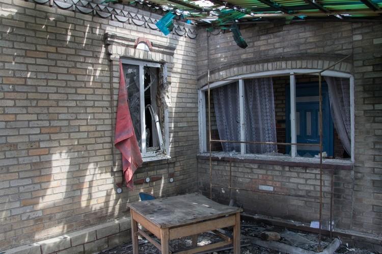 Около 18 часов вечера под артиллерийским ударом со стороны киевских карателей оказалась Александровка на окраине Донецка