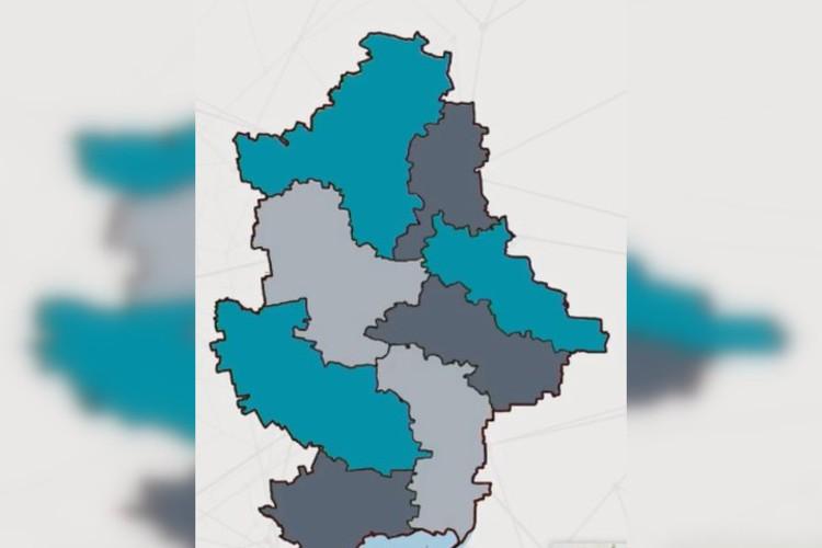 Так украинские власти хотят поделить Донецкую область сейчас. Фото: ДонОГА