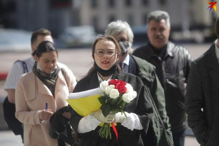 Так Анна Канопацкая подавала документы для регистрации ее инициативной группы.