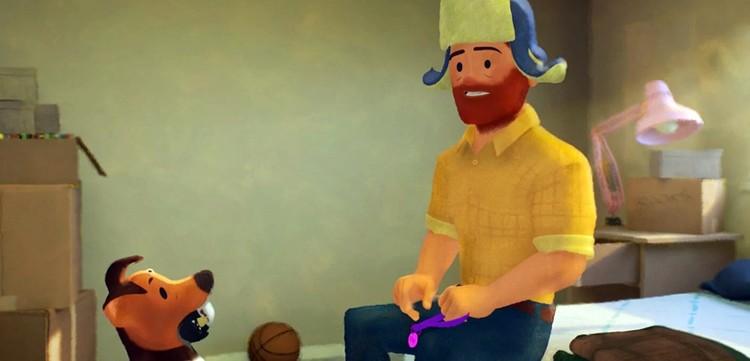 Признание маме и папе в гомосексуальности Грег репетирует с собакой Джимом