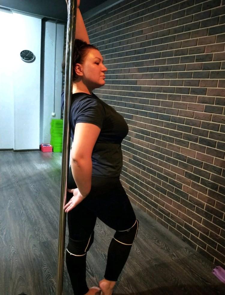 Такой сибирячка была в начале тренировок. Фото: личный архив.