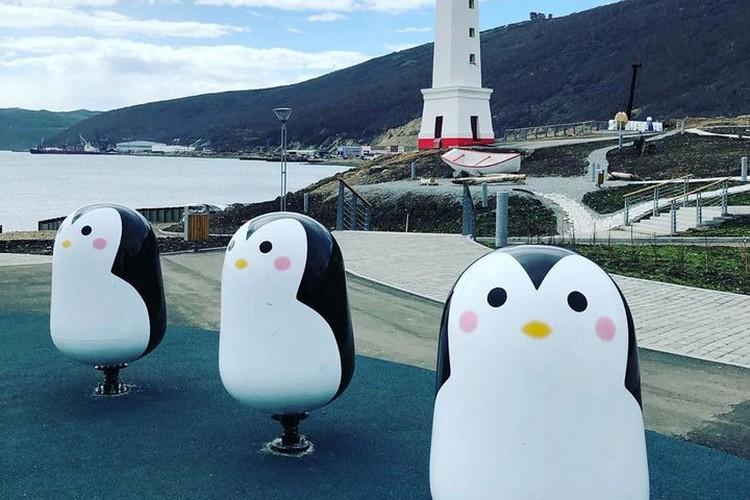 Пингвины вызвали ажиотаж у посетителей парка. Фото: инстаграм @tatianaan7