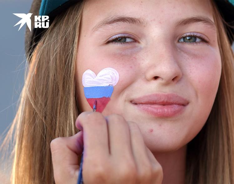 На праздновании Дня национального флага России в Самаре.