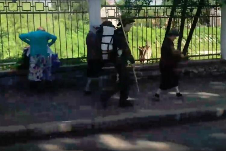 Многие - с тяжелыми рюкзаками и туристическими ковриками. Фото: скриншот с видео Владислав Крысов, vk.com/zlo43