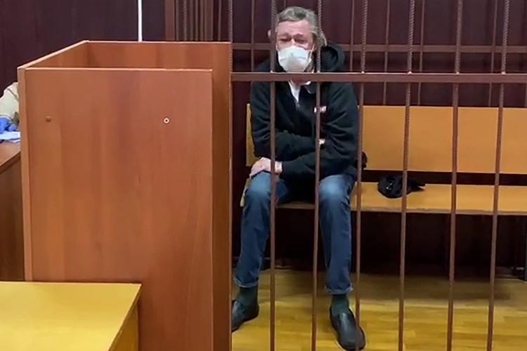 Суд отправил Михаила Ефремова под домашний арест на 2 месяца. Фото: пресс-служба Таганского суда