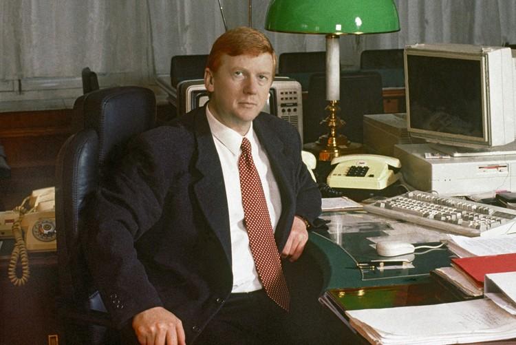 Председатель Госкомимущества России Анатолий Чубайс, 1994 год. Фото: Александр Чумичев/ТАСС