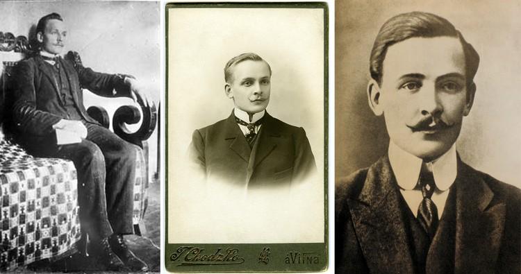 Молодой Купала был на острие стиля: английские усики, костюм, как из Лондона, дорогие шелковые галстуки с булавкой, воротники идеальной формы. Фото: Государственный литературный музея Янки Купалы