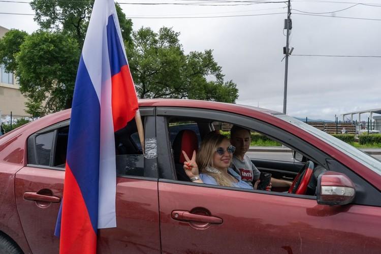 Пробег, посвященный Дню города и принятию поправок в Конституцию прошел во Владивостоке